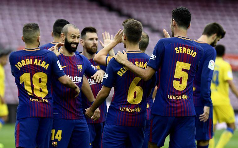 מול יציעים ריקים: ברצלונה הביסה 0:3 את לאס פלמאס