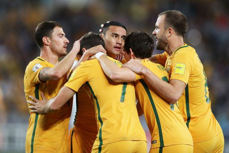 נבחרת אוסטרליה חוגגת