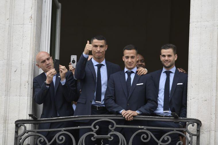 """ריאל מדריד חגגה את הזכייה. רונאלדו: """"נתראה בעונה הבאה"""""""