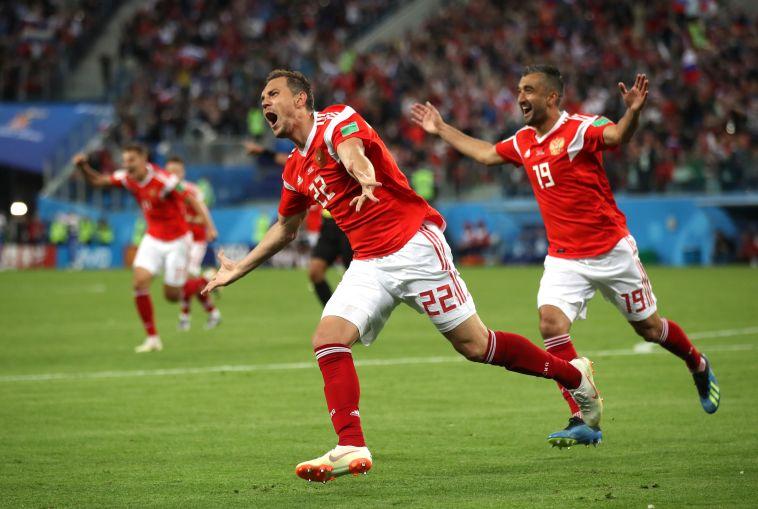בעלת הבית: צפו ב-1:3 של נבחרת רוסיה על מצרים
