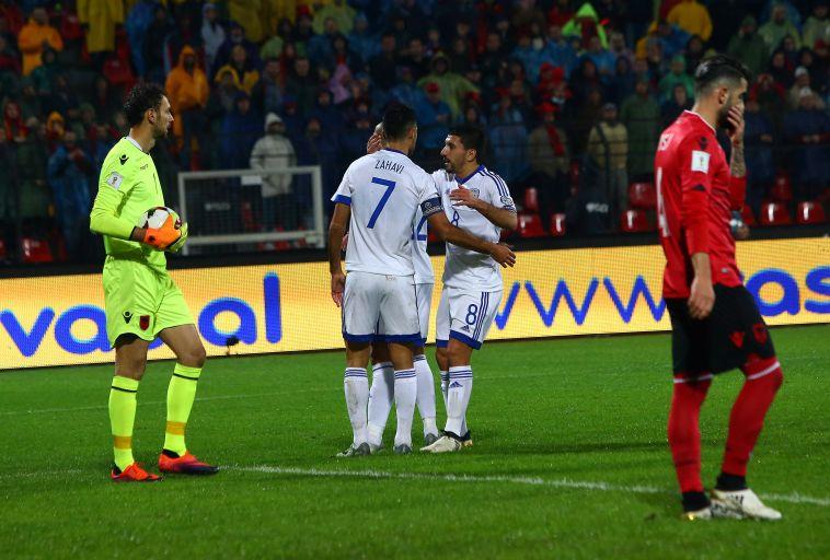 ישראל מול אלבניה במפגש הקודם (אודי ציטיאט)