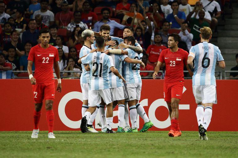 נבחרת ארגנטינה. לא התקשתה מול סינגפור (gettyimages)