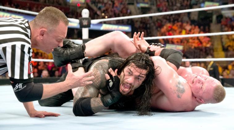 ברוק לסנר ורומן ריינס. ייפגשו בסאמר סלאם? (WWE, אתר רשמי)