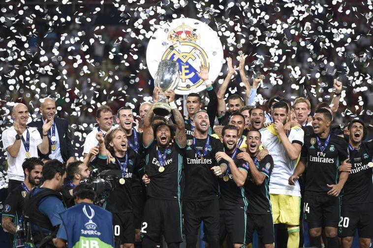 שחקני ריאל מדריד. לא שבעים (AFP)