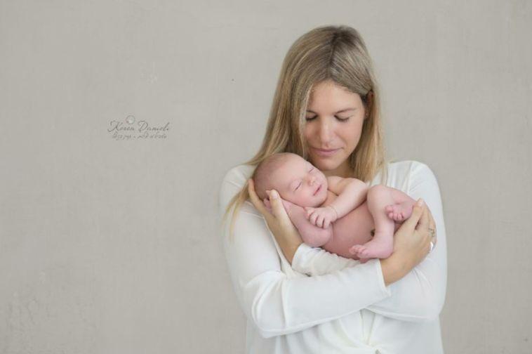 ליאן קליימן עם  בנה