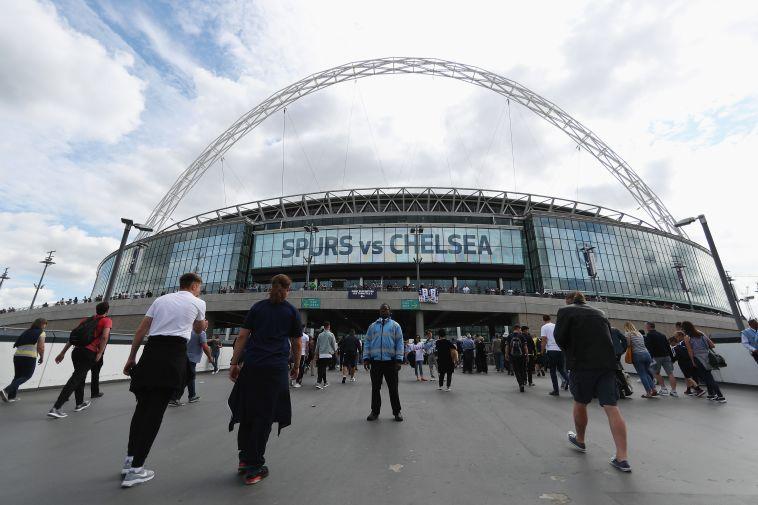 אצטדיון וומבלי מוכן למשחק (gettyimages)