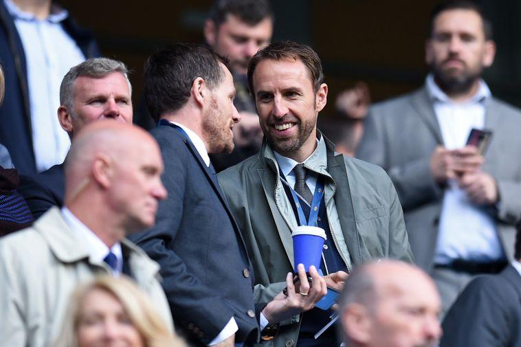 מאמן אנגליה גארת' סאות'גייט הגיע לצפות במשחק (AFP)