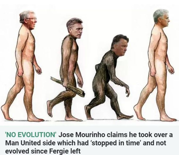 תורת האבולוציה על פי ז'וזה מוריניו (טוויטר)
