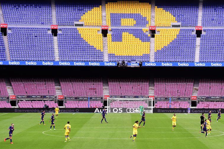 משחק ללא קהל לראשונה בקאמפ נואו (AFP)