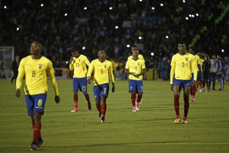 שחקני נבחרת אקוודור. בלאגן במחנה (AFP)