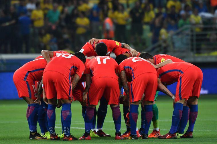 שחקני נבחרת צ'ילה. קריסה צפויה (AFP)