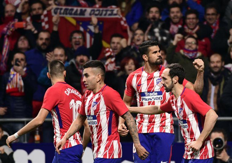 שחקני אתלטיקו מדריד. יוסיפו גביע שלישי לארון? (AFP)