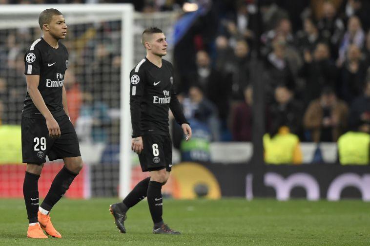 וראטי ואמבפה מאוכזבים. לא חוכמה לכבוש שמונה שערים מול דיז'ון (AFP)