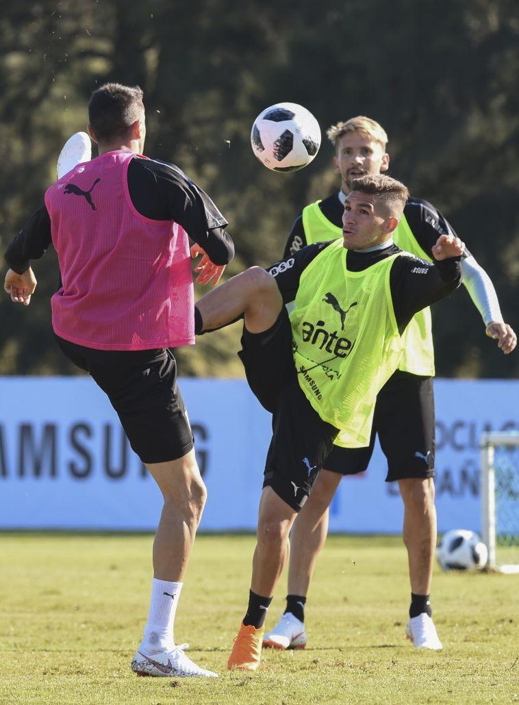 לוקאס טוריירה באימון אורוגוואי (AFP)