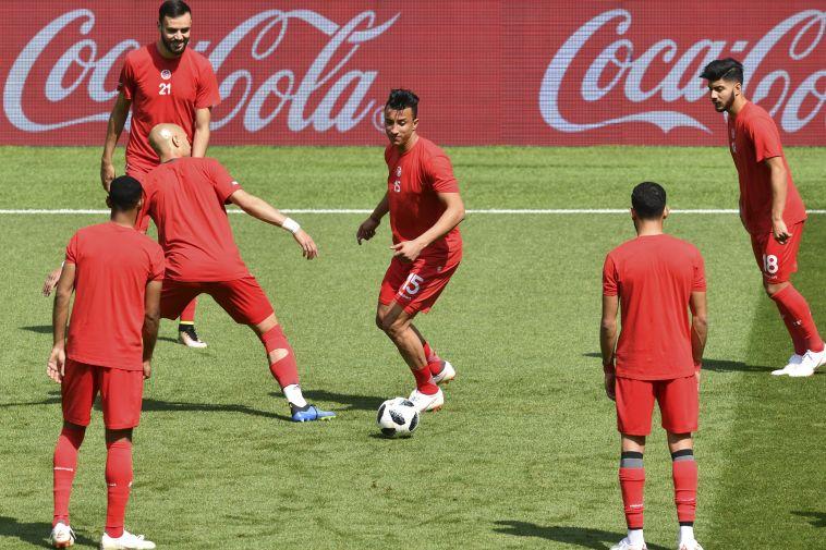 החימום של נבחרת טוניסיה... (AFP)