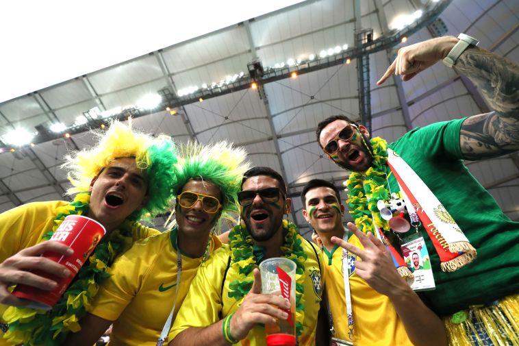 אוהדי נבחרת ברזיל. רק בשבילם המונדיאל הזה היה שווה (Gettyimages)