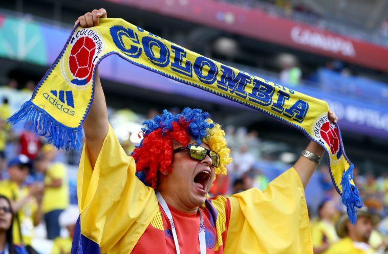 אוהד קולומביאני ביציע (gettyimages)