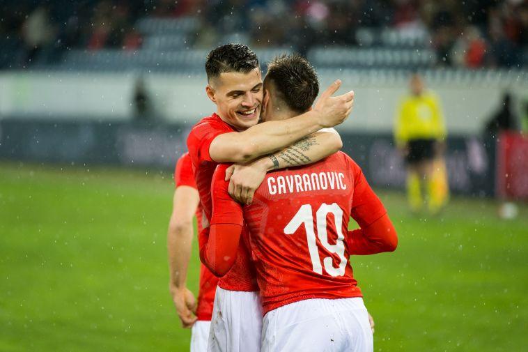 גבארינוביץ' במדי נבחרת שווייץ. חלוץ אחד איכותי (Gettyimages)