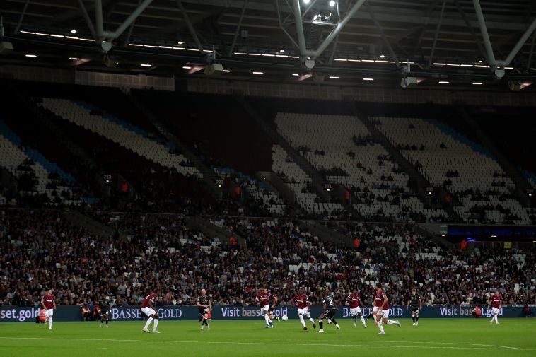 האצטדיון האולימפי בלונדון. עד תחילת המשחק כולם בלאונג' (Gettyimages)