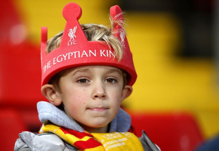 אוהד ליברפול צעיר מאמין בסלאח (Gettyimages)