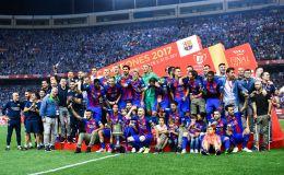 ברצלונה חוגגת זכייה בגביע הספרדי