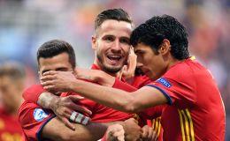 שחקני ספרד הצעירה חוגגים