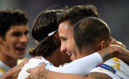 סאול חוגג שער בנבחרת ספרד הצעירה
