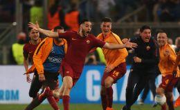 שחקני רומא חוגגים