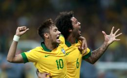 מרסלו יחד עם ניימאר בנבחרת ברזיל