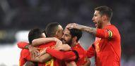 שחקני נבחרת ספרד חוגגים