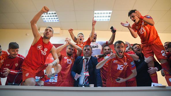 Igor Anglovsky and Macedonian players