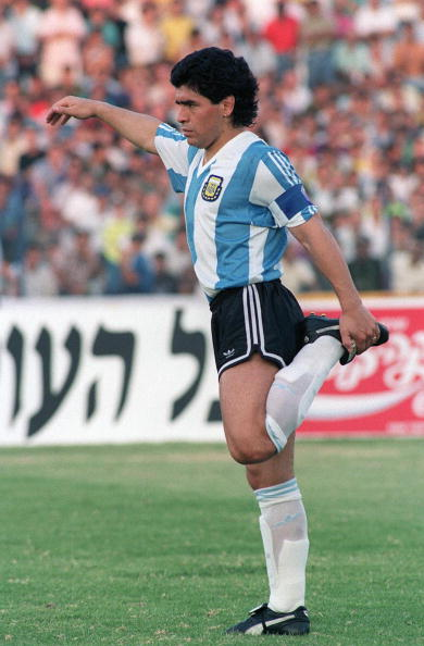 Diego Maradona at Ramat Gan Stadium