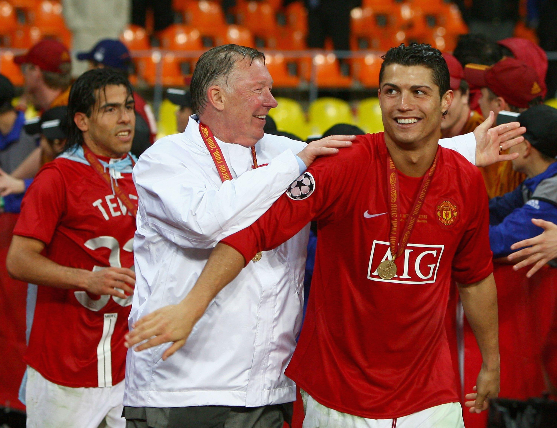 Alex Ferguson with Cristiano Ronaldo in 2008
