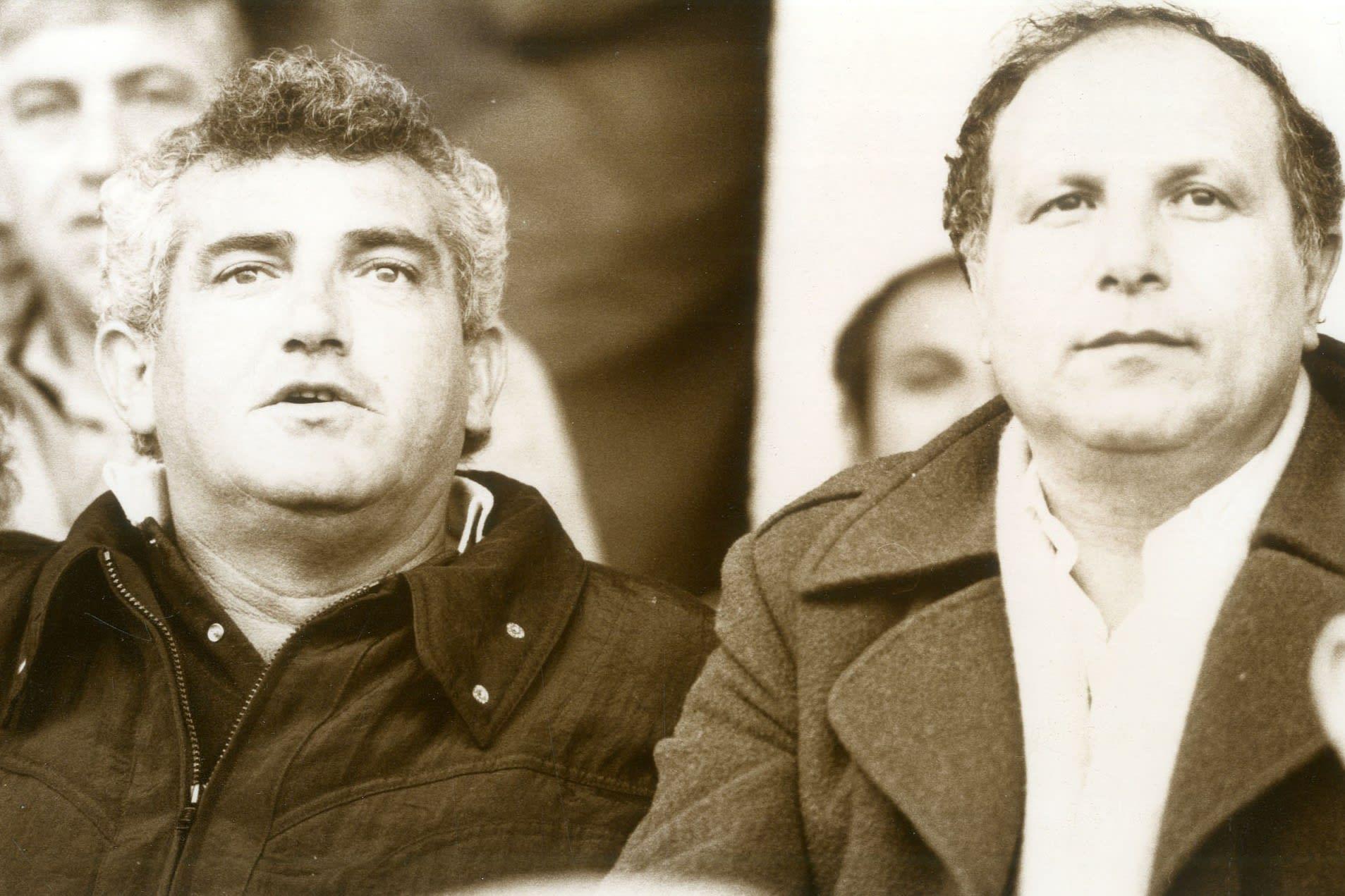 Shaul Sweiri, former chairman of the Football Association and former coach Shlomo Sharaf