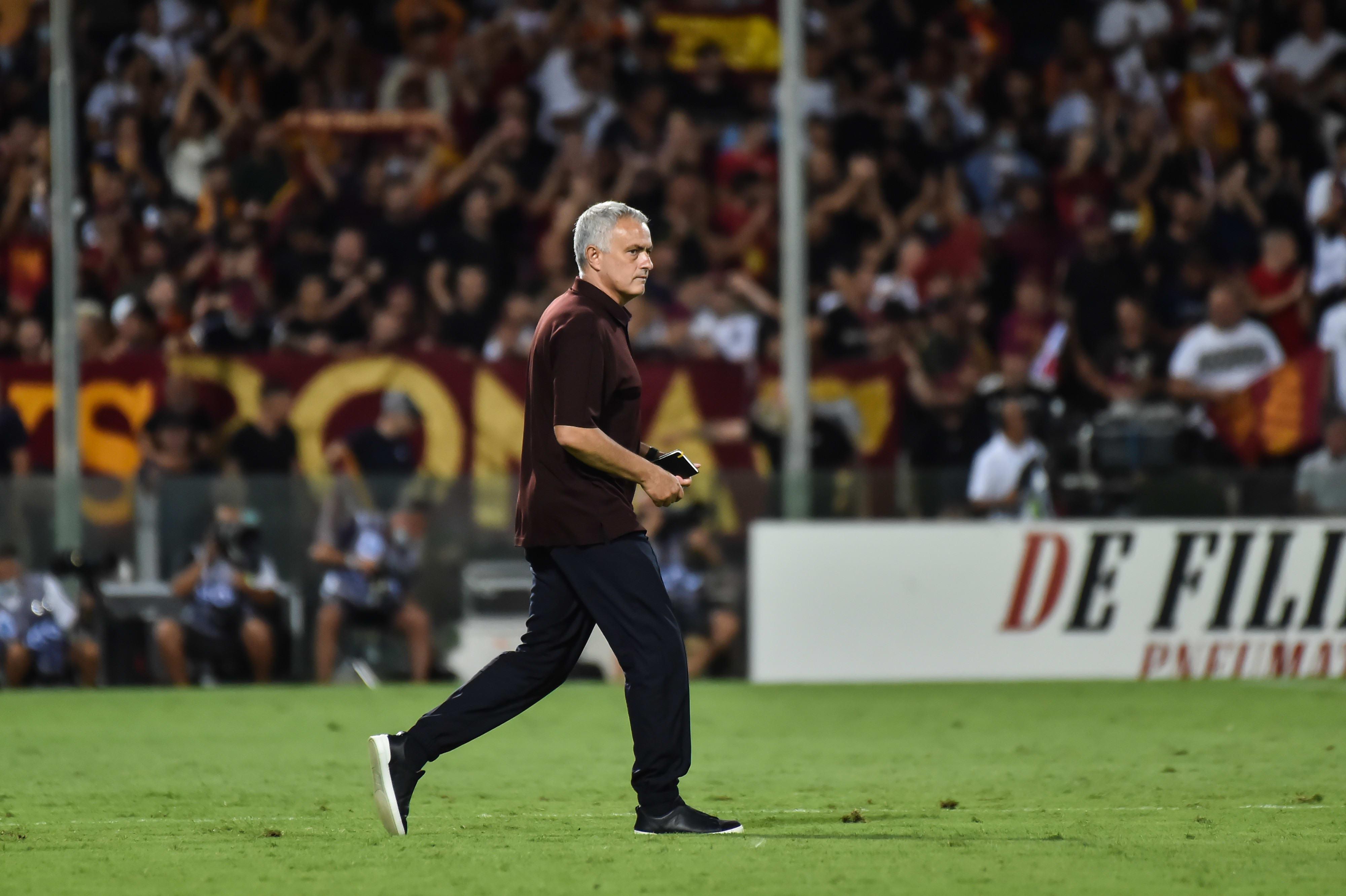 Roma coach Jose Mourinho