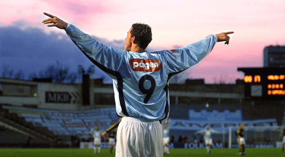 Zlatan Ibrahimovic in the Malmo 2000 uniform