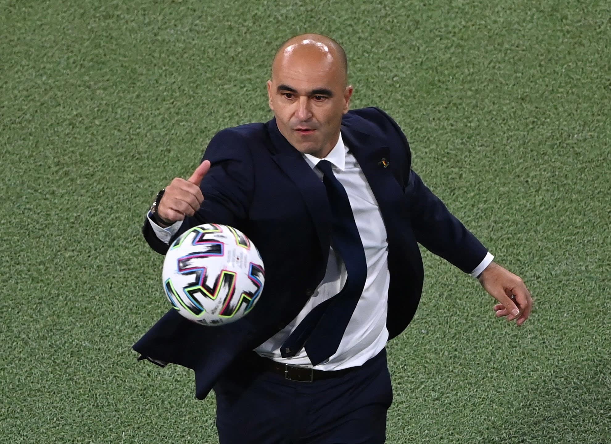 Roberto Martinez coaches Belgium national team