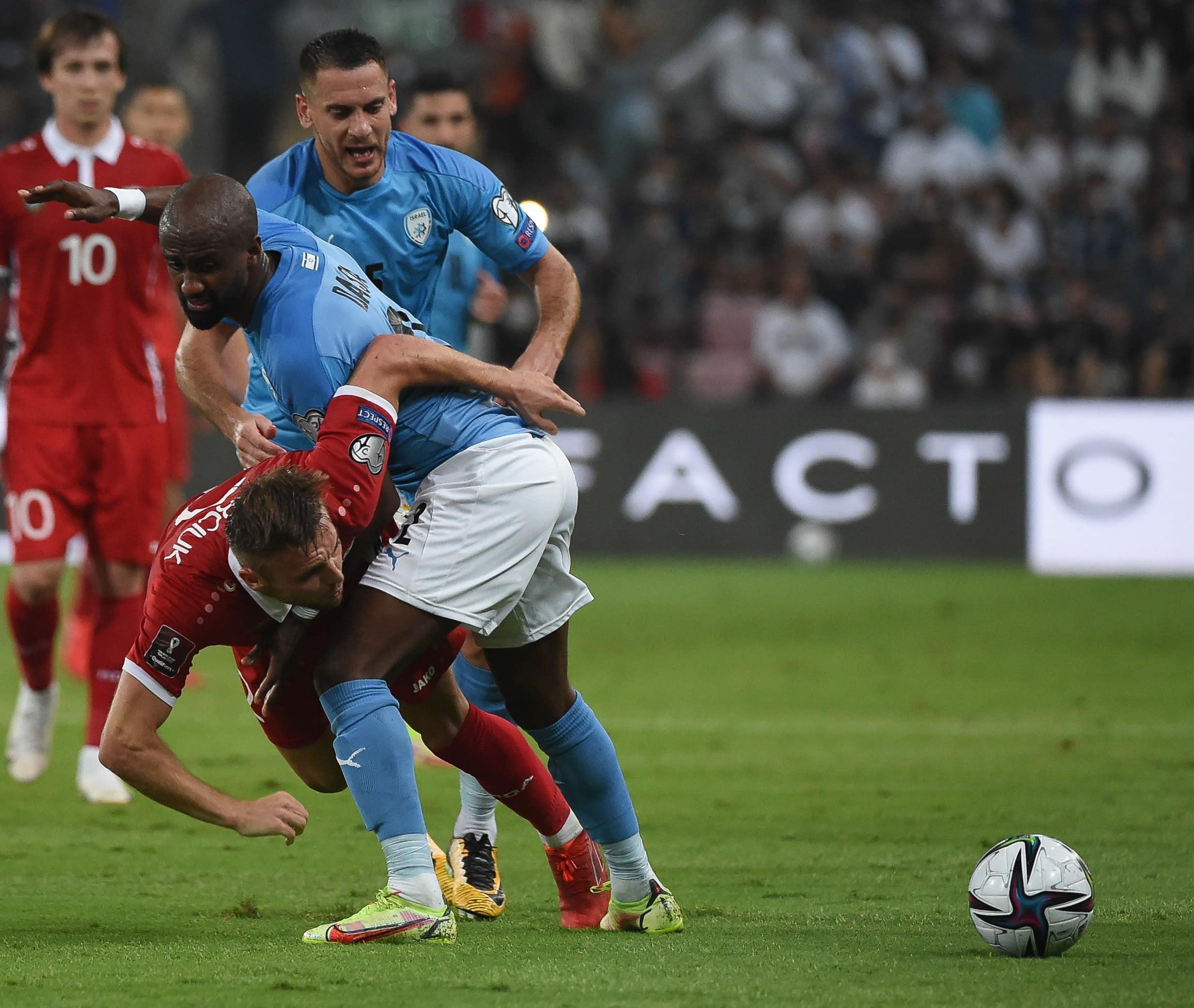 שחקני נבחרת ישראל, אלי דסה, איאד אבו עביד מול נבחרת מולדובה