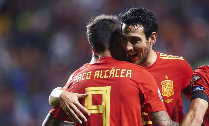 צפו: אלקאסר ורודריגו כיכבו, ראמוס שבר שיא, ספרד הביסה 0:4 את איי פארו