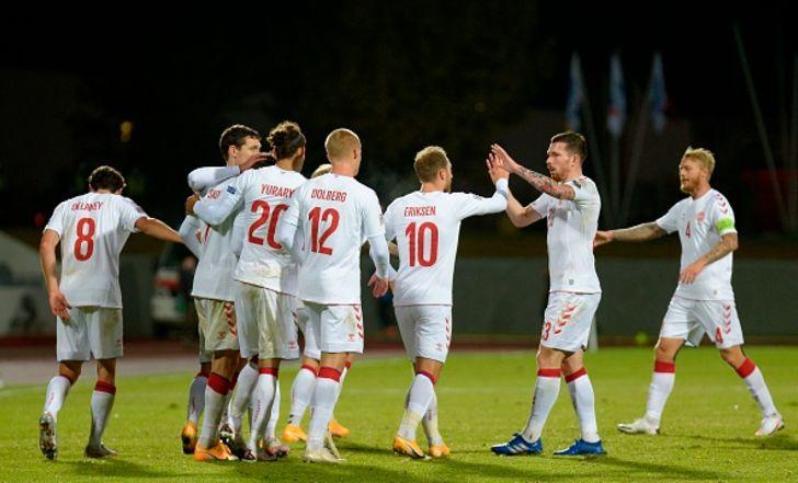 שער אדיר לאריקסן בניצחון 0:3 של דנמרק על איסלנד