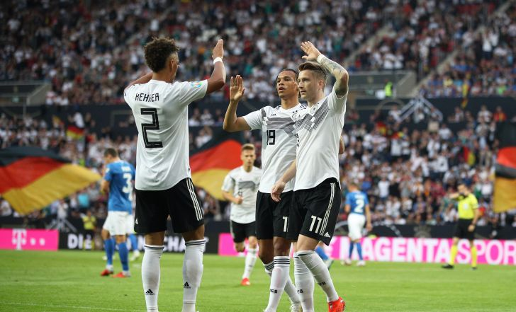 צפו בתקציר: גרמניה לא ריחמה על אסטוניה עם 0:8 מהדהד
