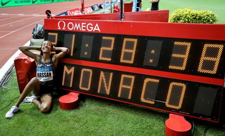 צפו: חסאן שברה שיא בן 23 שנה, גאטלין ניצח בריצת 100 מ' במונאקו