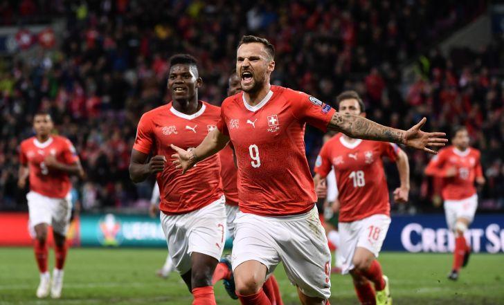 צפו בתקציר: 0:2 גדול לשווייץ על עשרה שחקנים של אירלנד