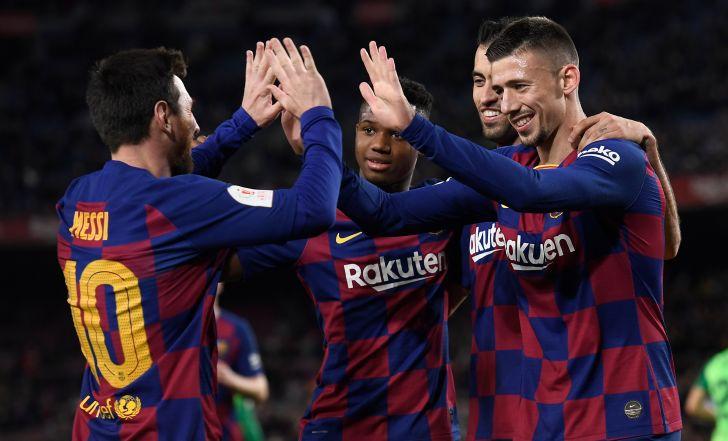 צפו: צמד ובישול למסי, ברצלונה דרסה 0:5 את לגאנס בגביע