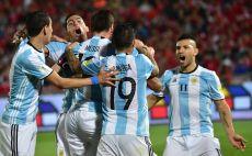 שחקני ארגנטינה צוהלים. ניצחון כפול צילום(צילום: AFP)