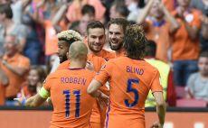 נבחרת הולנד חוגגת צילום(צילום: AFP)