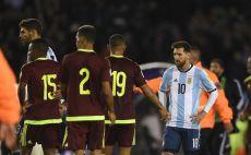 מסי במדי ארגנטינה נגד ונצואלה צילום(AFP)