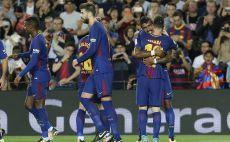 שחקני ברצלונה חוגגים צילום(צילום AFP)