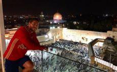 סרחיו ראמוס בירושלים צילום(טוויטר)