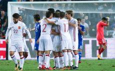 שחקני נבחרת ספרד צילום(דני מרון)